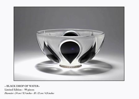 Creation d'une coupe en verre taillée