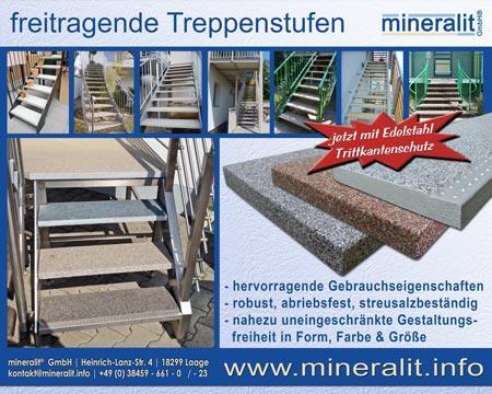 freitragende Treppenstufen