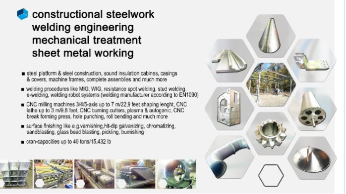 construtional steel work, welding engineering, sheet metal work, metal treatment