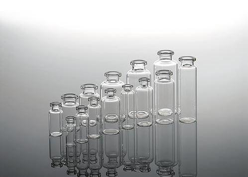Transparent injection vials