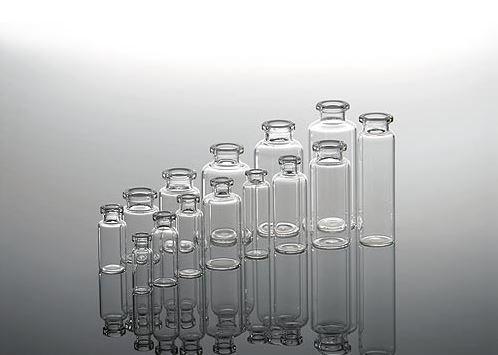 Transparent injection vials