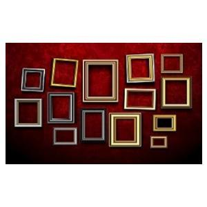 Large selection of image frames, different colors and sizes.