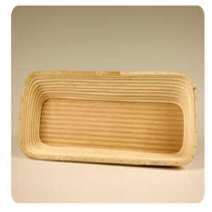 Gärkörbchen Holzboden gerillt, Seitenwände gerillt, eckig