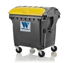 Wheelie bins, mobile dustbins 1100 litre round lid, Lid in Lid