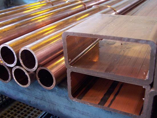 Copper tube and profile