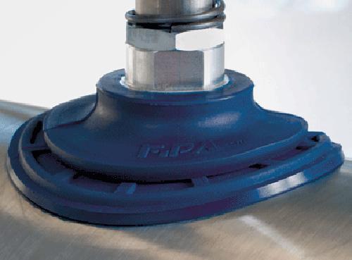 Flat vacuum cup