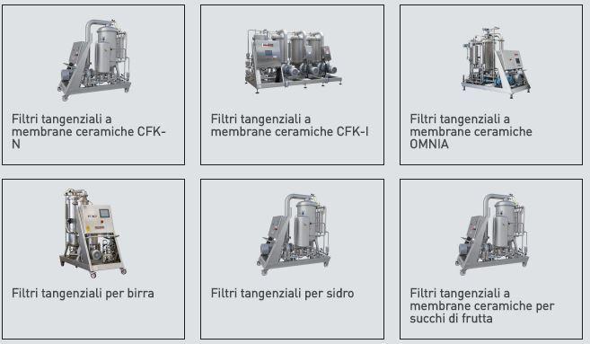 Filtri A Piastre Filtri Tangenziali A Membrane Ceramiche