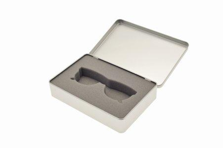 Foam inserts for tin box packaging