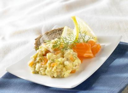 Brouillade saumon aneth
