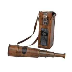 Brass Telescope With Leather Carry Case