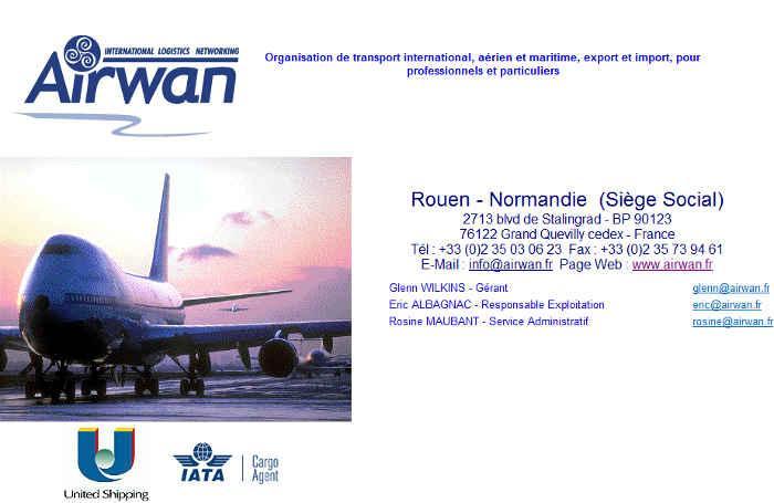 ORGANISATION DE TRANSPORT INTERNATIONAL ET FRET AERIEN AIRWAN INTERNATIONAL