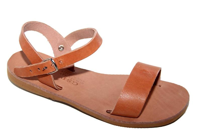 Leather sandal. Hand made Greece