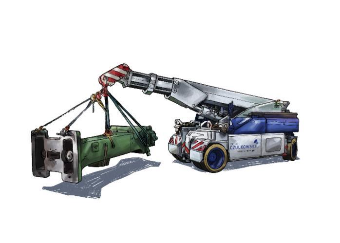 Illustration Pick & Carry Kran 35 Tonnen