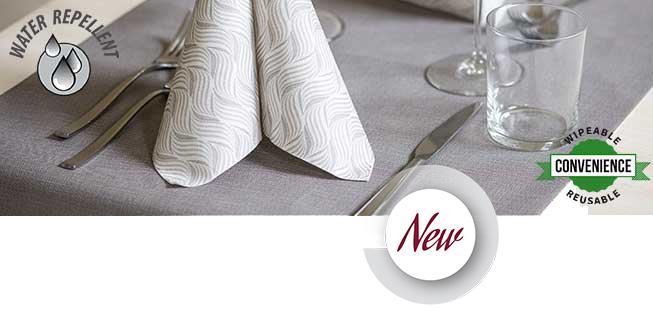 Tischläufer aus NouveauTech Material, beschichtet und textilartig