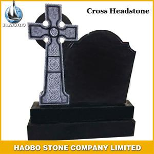 Cross Headstone, Celtic Cross headstone, Black Granite headstone