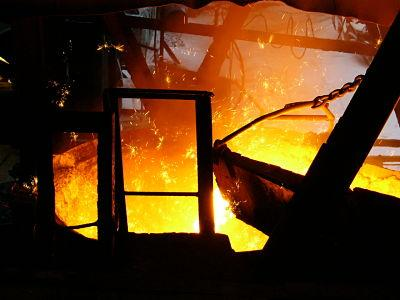 production of pig iron from the blast furnace