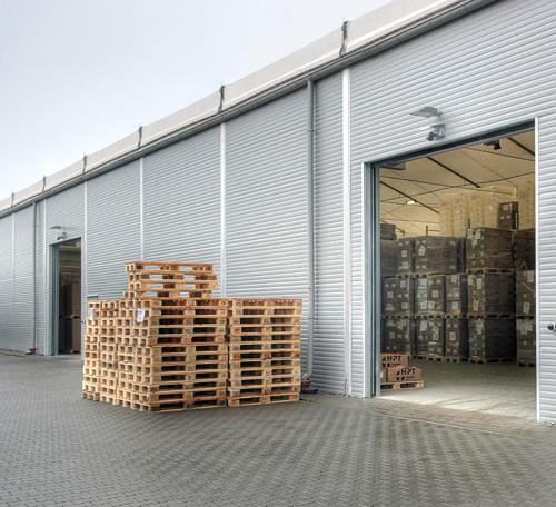 Warehouse with steel walls
