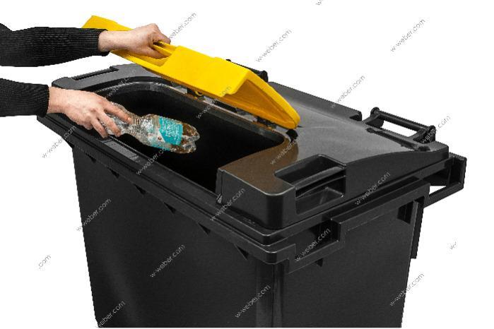 Dustbins mobile, Wheelie bins 660 litre flat lid