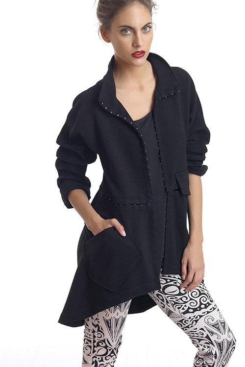Midi multiform over coat,that you can also wear as short jacket