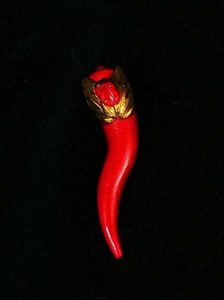 corno piccolo con coccinella