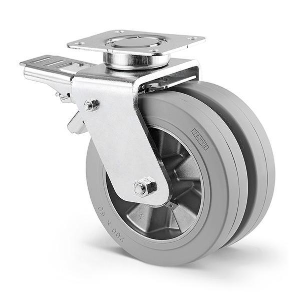 Roulette industrielle jumelée