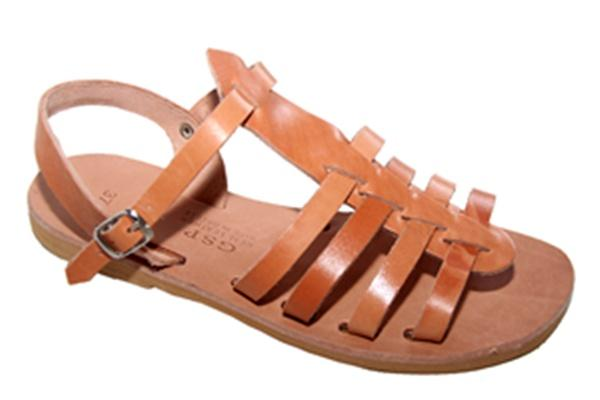 Leather sandal- shoe. Hand made Greece