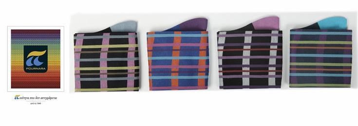 Men's socks horizontal & vertical pinstripe