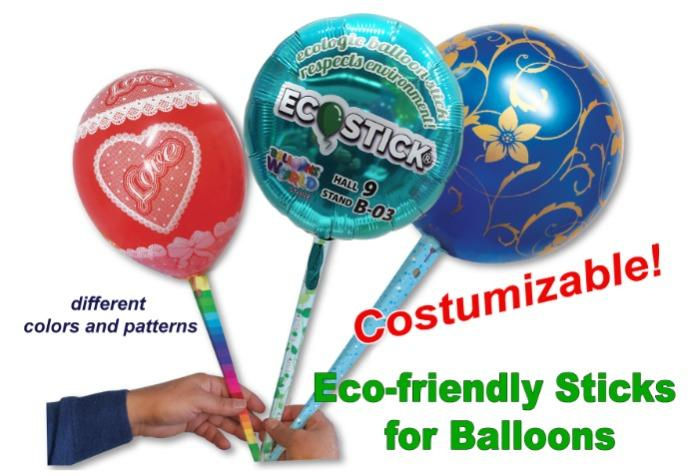 """ECOSTICK"" - Eco-friendly stick for balloons"