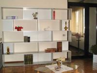 Libreria in alluminio componibile