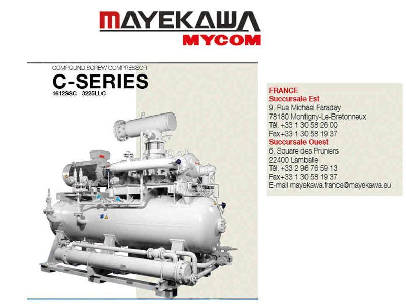 MAYEKAWA FRANCE, Compresseurs à pistons et à vis, compresseurs