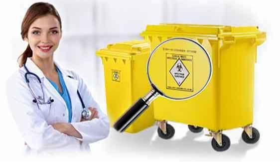 Mobile dustbins, wheelie bins for clinical waste 240, 360, 660, 770, 1100 litre