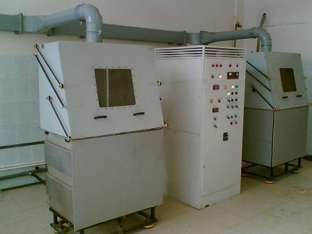 Installation of electrolytic-plasma polishing of parts