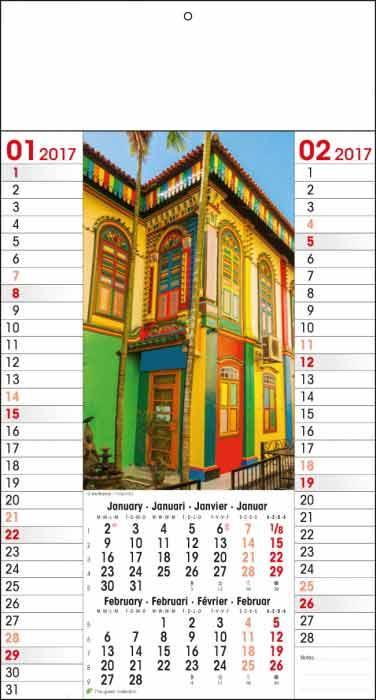 calendrier mural thème paysage