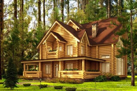 WOOD HOUSE STRUCS (PREFAB SETS OF TIMBER/LOG BUILD UNITS) from RUSSIA (export)