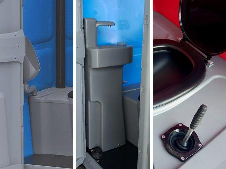 Accessories for Toypek toilets: urinal, washbasin and recirculation flush system