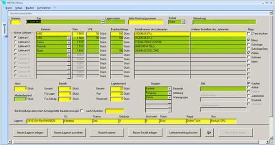 materials administration