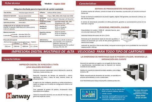 Hanway 2500B Multipass Digital Printer