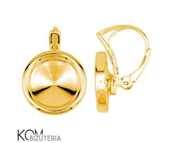 Leverback 12 mm rivoli earring kz 73 - gold-plated silver