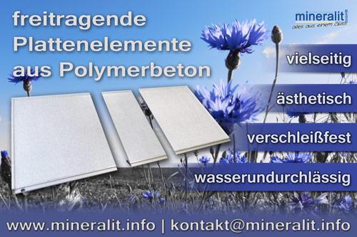 wasserdichte Balkonplatten aus Polymerbeton