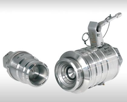Ball-Face Clean-Break Coupling for difficult fluid or gaseous media BF Series
