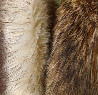 Imitations of natural fur