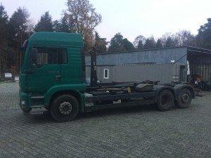 Container LKW zum Transport