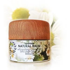 Natural, Handmade Chamomile Beeswax Balm