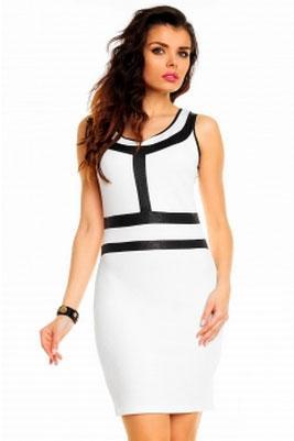Dress white-black