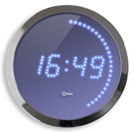 Horloge électrique chromée