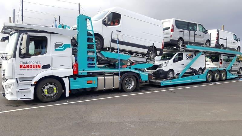 Transport de véhicules utilitaires