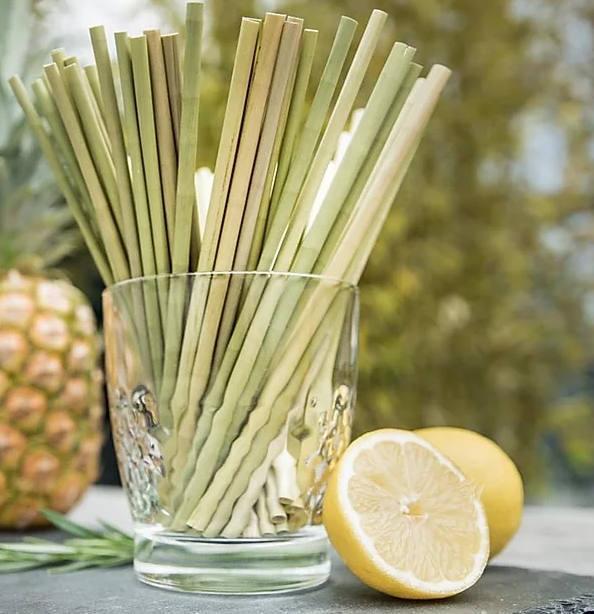 Strawmee Green-Straws aus Lepironia-Gras