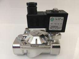 Elettrovalvola acciaio inox per prodotti chimici