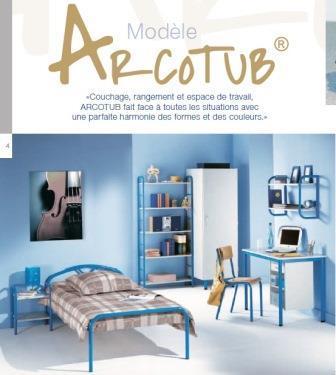Mobilier hébergement - Gamme de couchage, rangement et espace de travail ARCOTUB