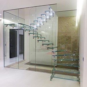 Glass Stairs Railing